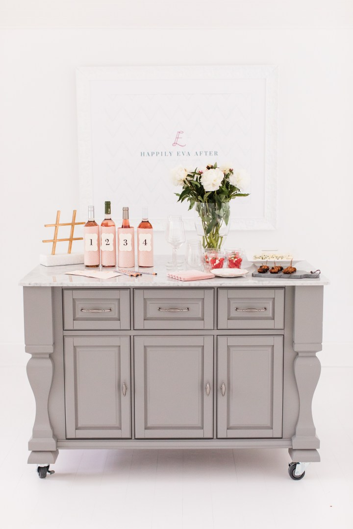 Eva Amurri Martino hosts a fun and feminine Rosé tasting party at her Connecticut home