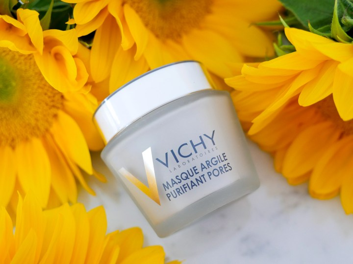 Eva Amurri Martino includes a Vichy purifying clay mask as part of her monthly obsessions roundup