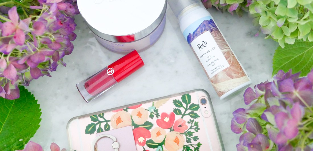 Eva Amurri Martino shares a roundup of her favorite products for the month of October, including a phone ring, liquid lipstick, dry shampoo, and hair mask