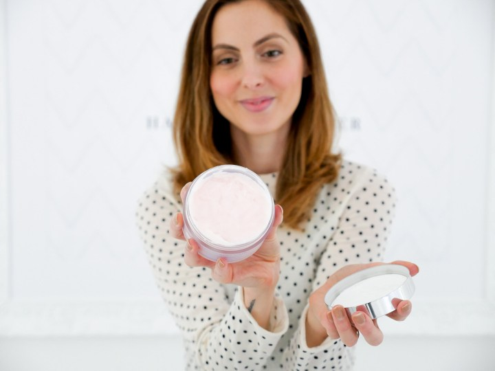 Eva Amurri Martino displays the hair mask that is part of her monthly obsessions roundup
