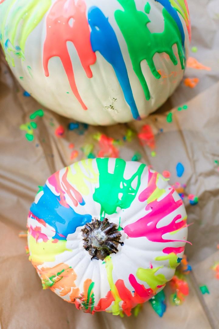 Eva Amurri Martino creates Technicolor Pumpkins for lifestyle blog Happily Eva After