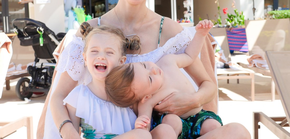 Eva Amurri Martino laughs with her son and daughter on vacation in Mexico
