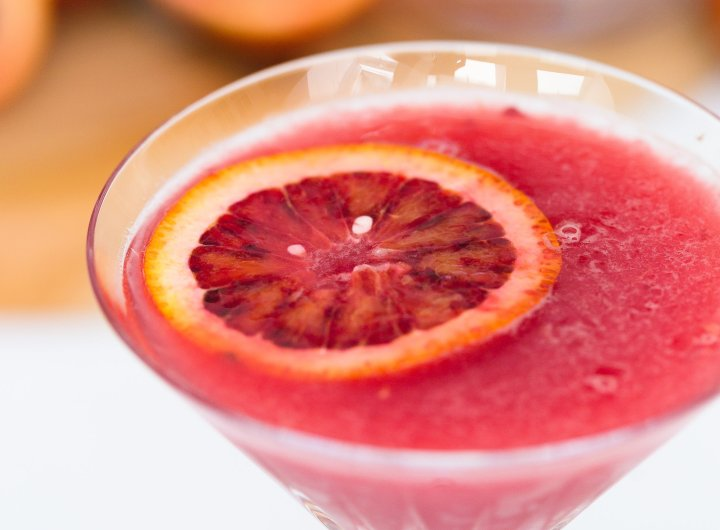 Eva Amurri Martino creates a blood orange and ginger martini to serve at her dinner party