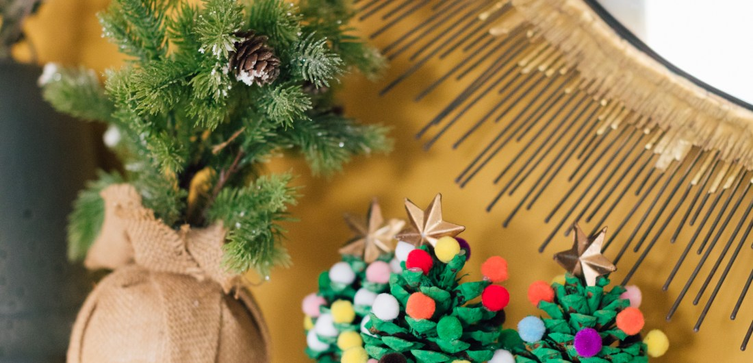 Eva Amurri Martino shares a fun, kid-friendly holiday DIY: Pom Pom Christmas Trees!