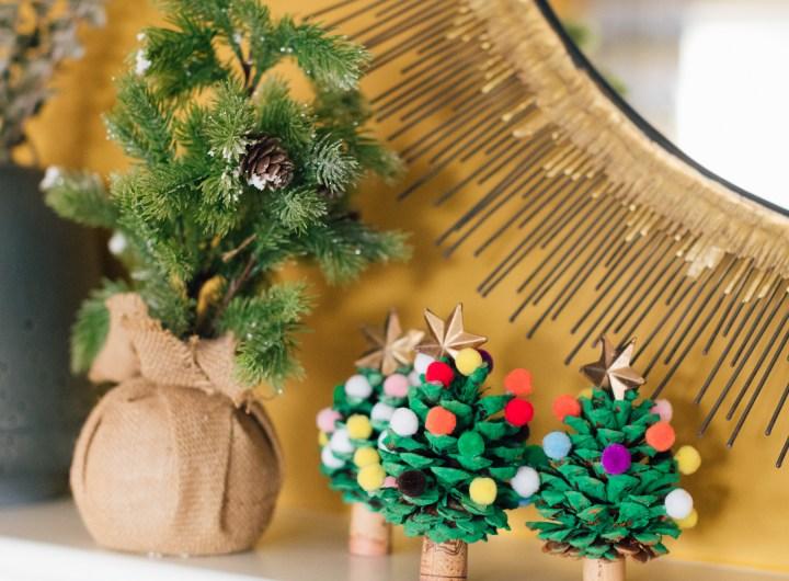 Eva Amurri Martino shares a fun, kid-friendly holiday DIY: Pom Pom Christmas Trees!