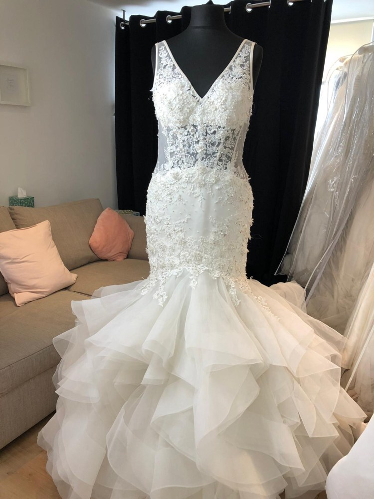 Randy Fenoli Mermaid Gown (Charlize) - Size 14