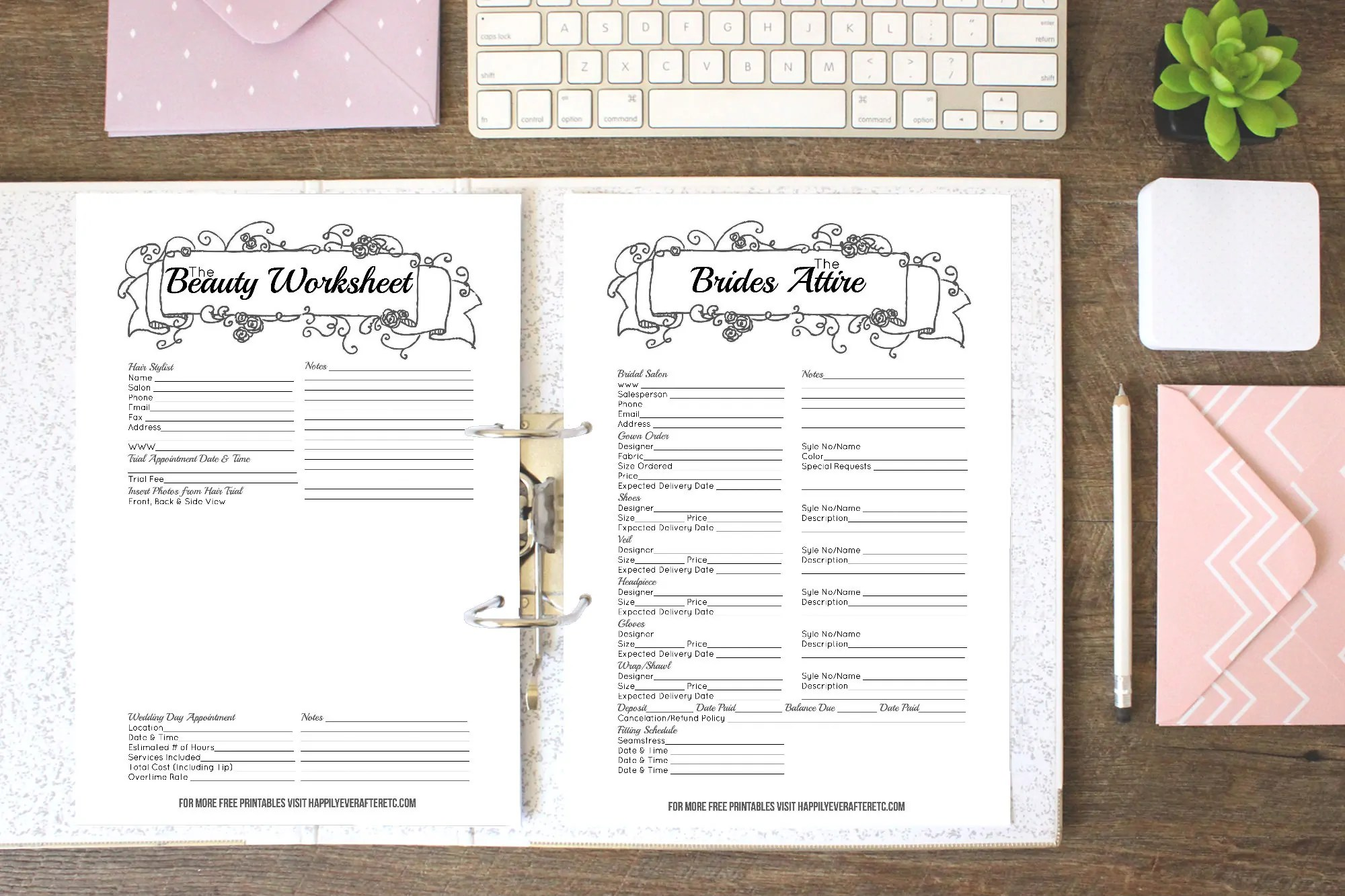 How To Put Together Your Perfect Free Wedding Binder 42 Free Wedding Printables