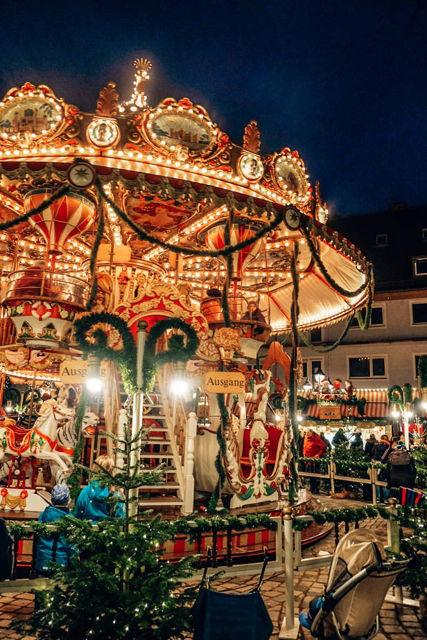 carousel at a Christmas Market in Nuremberg, Germany