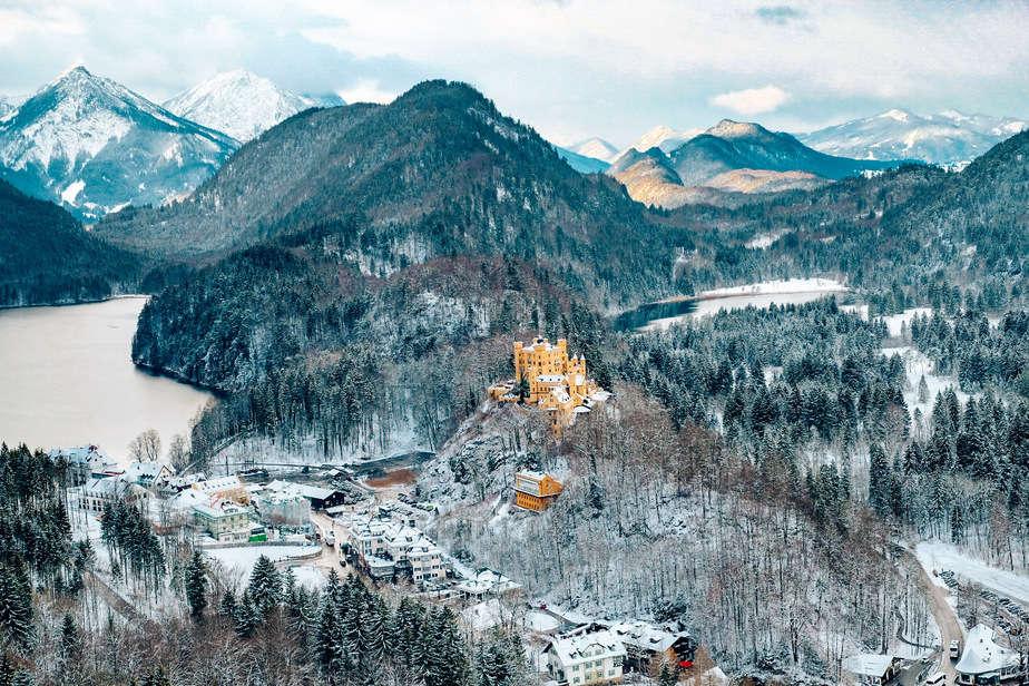 Schwangau castle in the winter