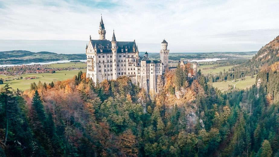 Neuschwanstein Castle during the summer