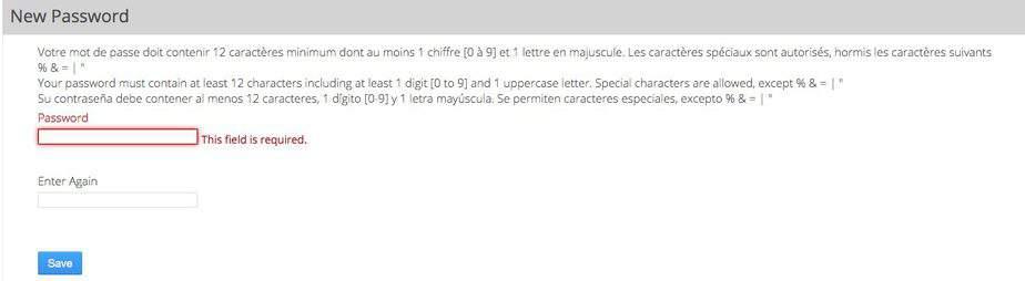 Create a Password for France Visa Website