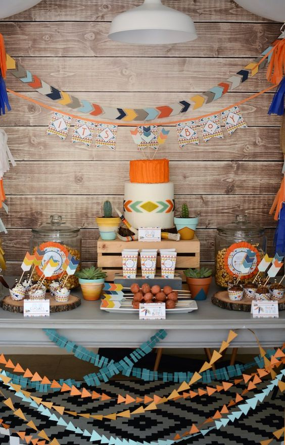 Tribal Baby shower theme