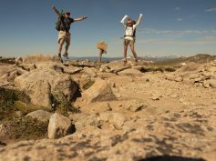 Cece and Alex on the top of Flattop Mountain in 2011.