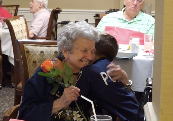 Hugs for senior citizens