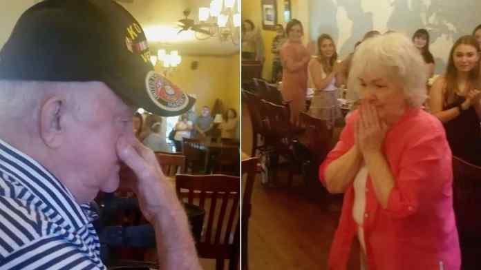 Restaurant sings to veteran during last meal