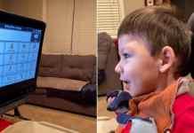 non-verbal boy tells mom he loves her