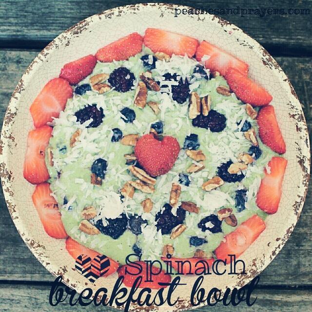Spinach Breakfast Bowl- peachesandprayers.com