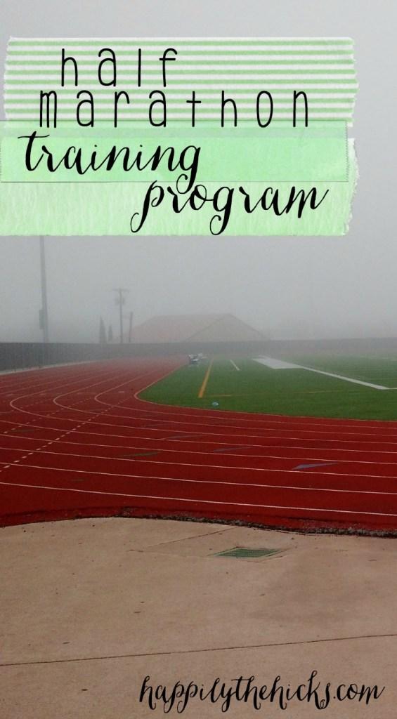 Half Marathon Training Program pinterest