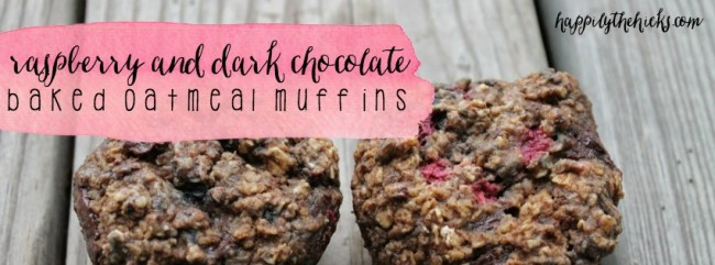 Raspberry Baked Oatmeal Muffins