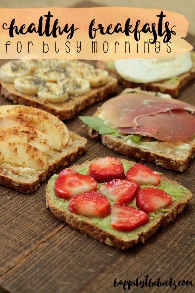 Healthy Breakfasts for a Busy Morning | read more at happilythehicks.com