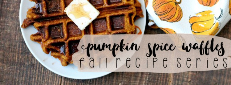 Pumpkin Spice Waffles- Fall Recipe Series | read more at happilythehicks.com