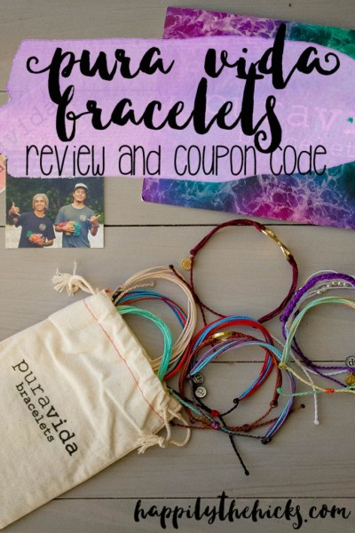 Pura Vida Bracelets Review | read more at happilythehicks.com