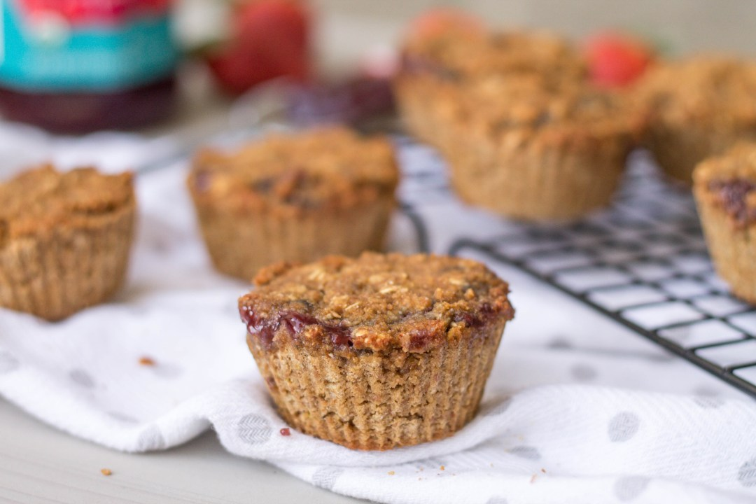 Jelly Filled Oatmeal Muffins