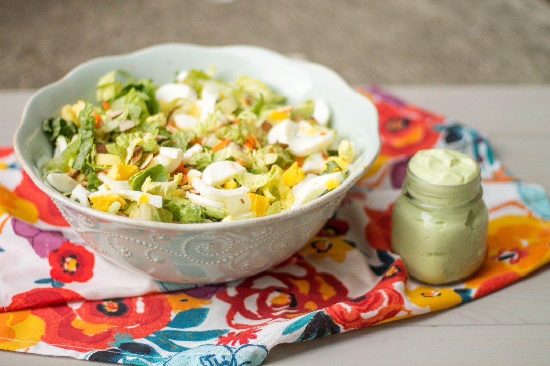 Chopped Salad and Avocado Yogurt Dressing
