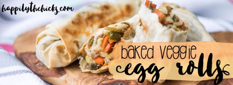 These Baked Veggie Egg Rolls are a great way to get the taste of Chinese without all the guilt. | read more at happilythehicks.com