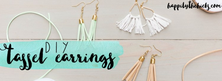 Diy Tassel Earrings Happily The Hicks