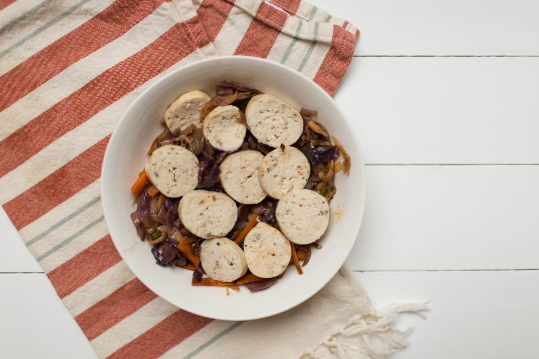Sausage and Cabbage Lunch Bowl