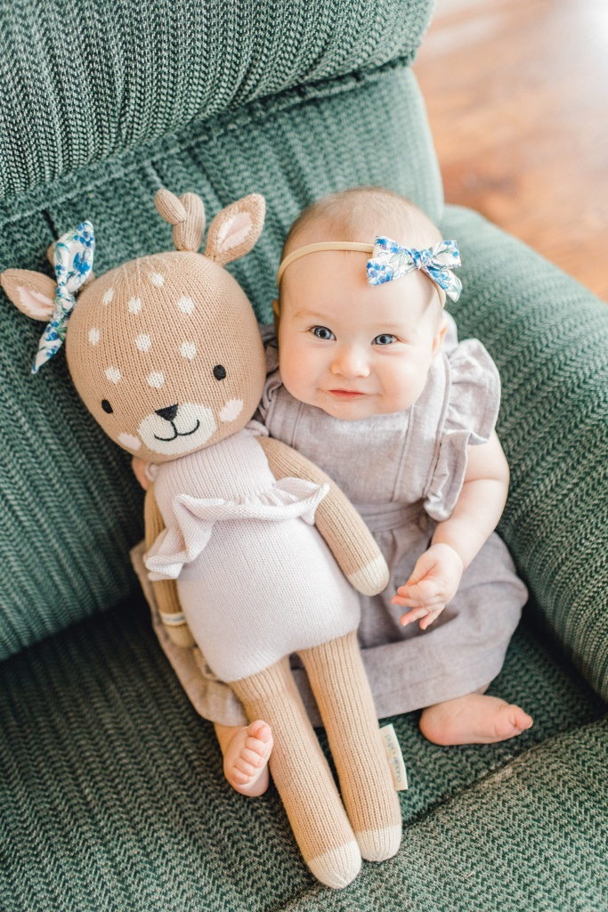 June Elizabeth | Six Month Update  | read more at beccasuephotography.com