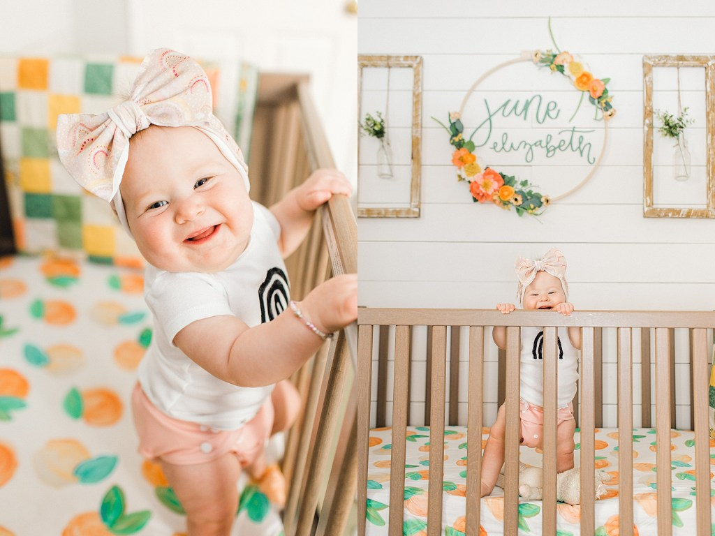 June Elizabeth | Eight Month Update | read more at happilythehicks.com