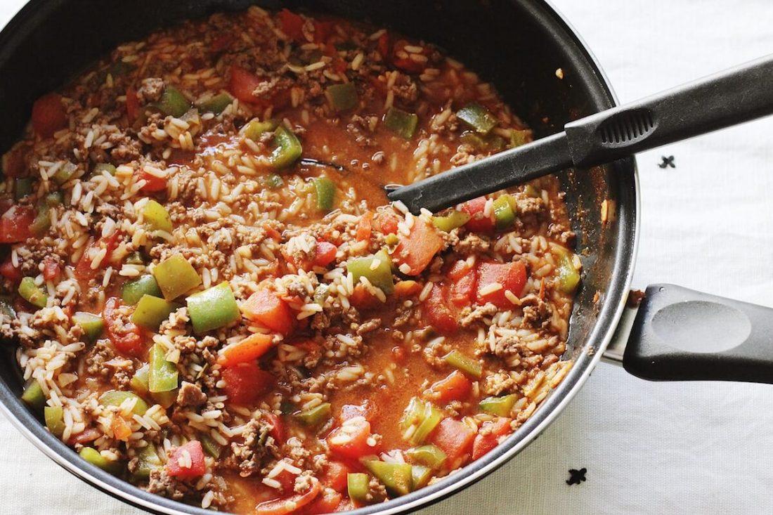 One Pot Unstuffed Green Pepper Recipe   Happily Trista Blog