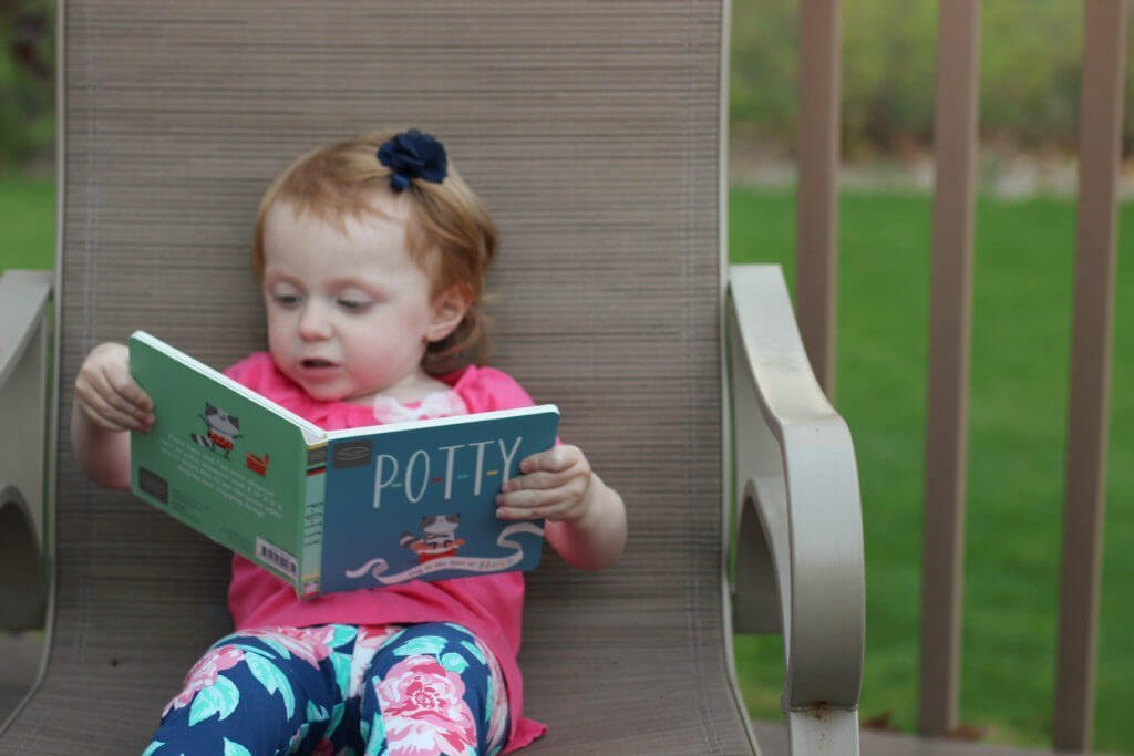 Blaire reading potty book