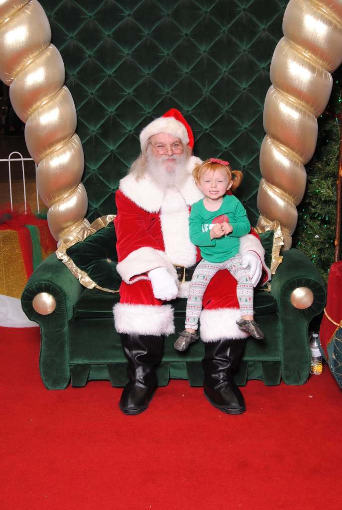 Blaire and Santa 2016