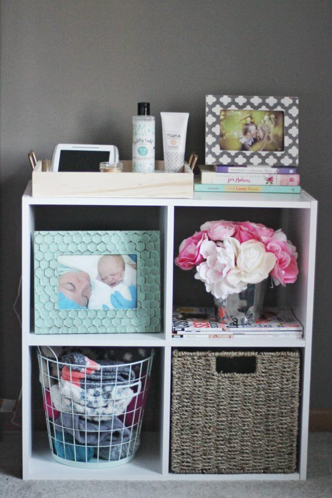 White Cubes Bedside Table