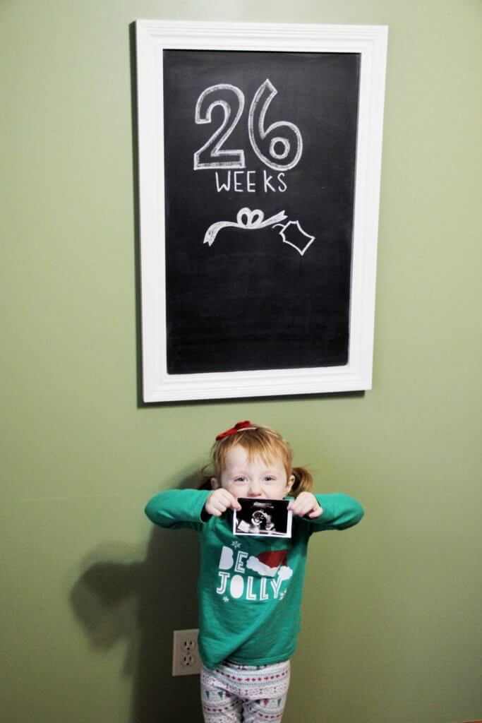 26 Weeks Pregnant Chalkboard