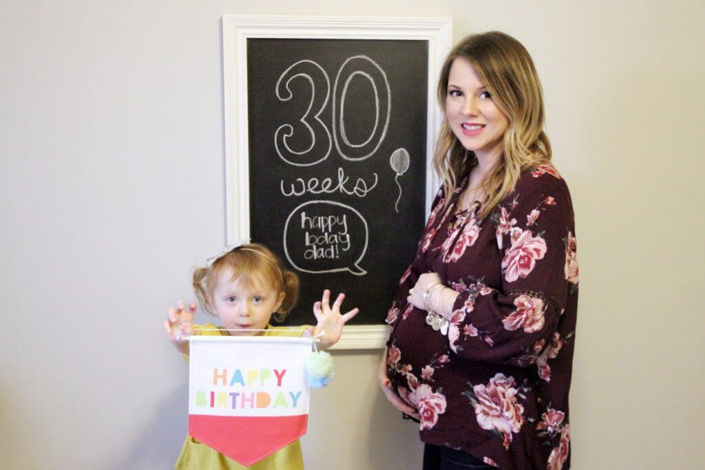 30 Weeks Pregnant Chalkboard