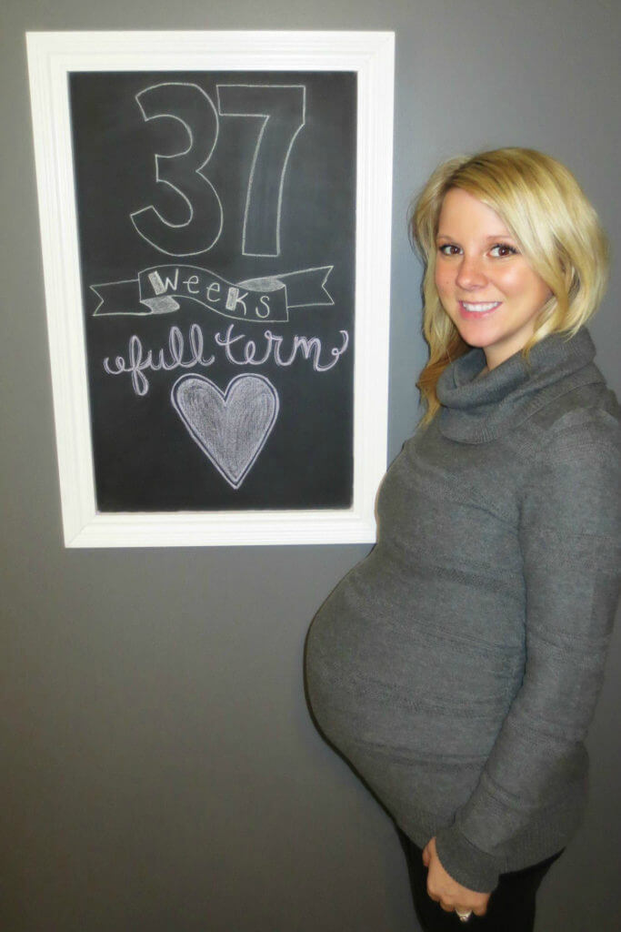 37 Weeks Pregnant Chalkboard Picture