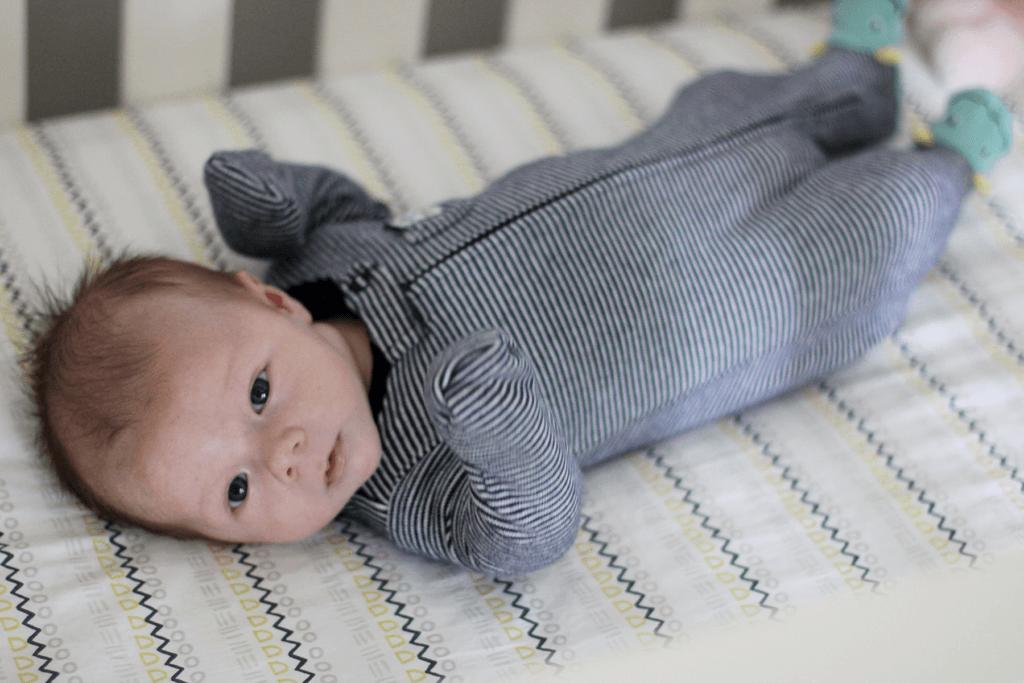 Ben in Crib