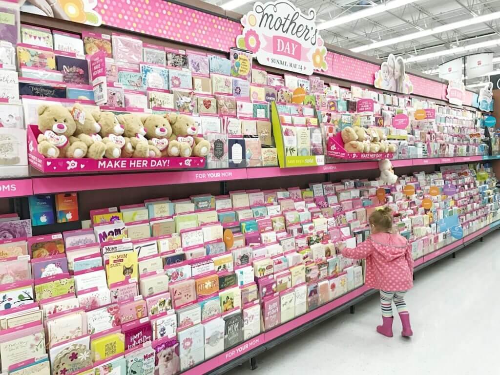 American Greetings Mother's Day Display at Wal Mart