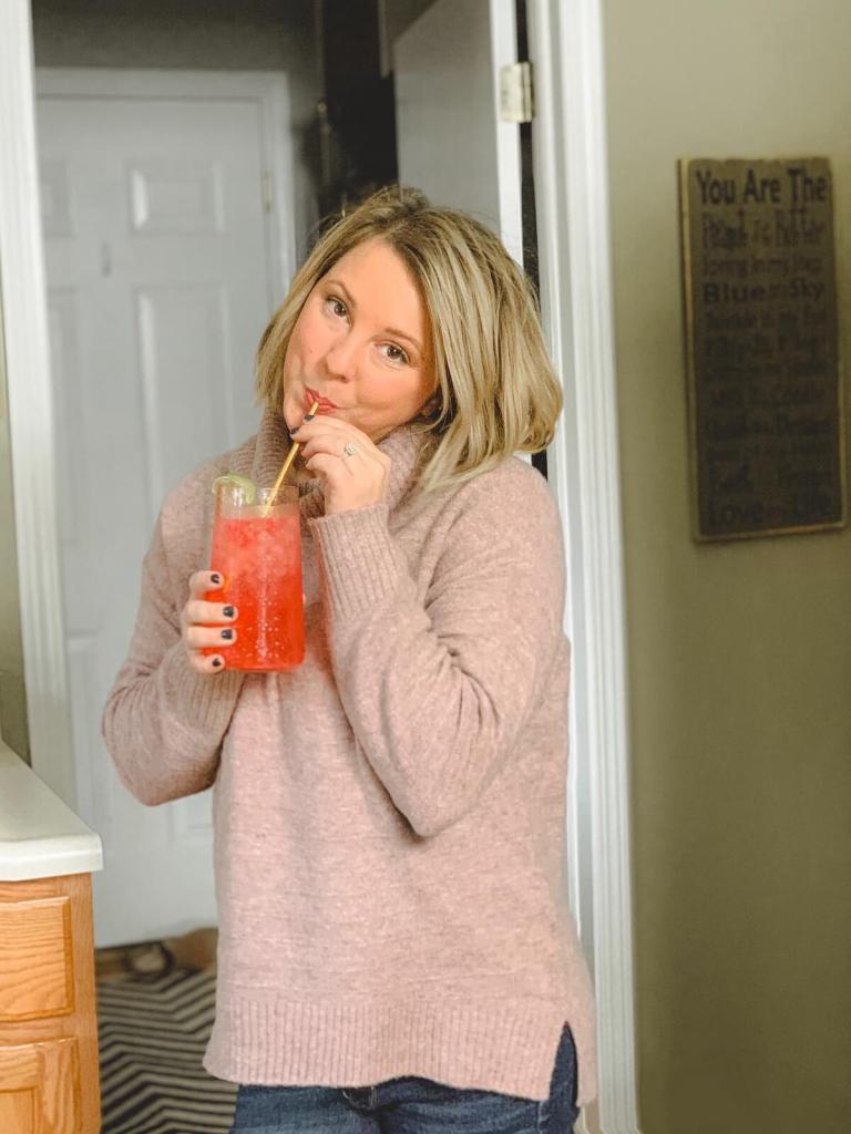 Drinking Cherry Limeade