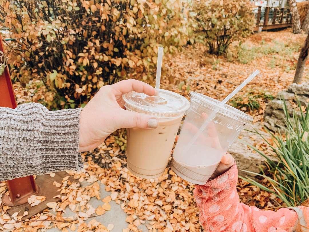 Iced Coffee and Chocolate Milk Cheers