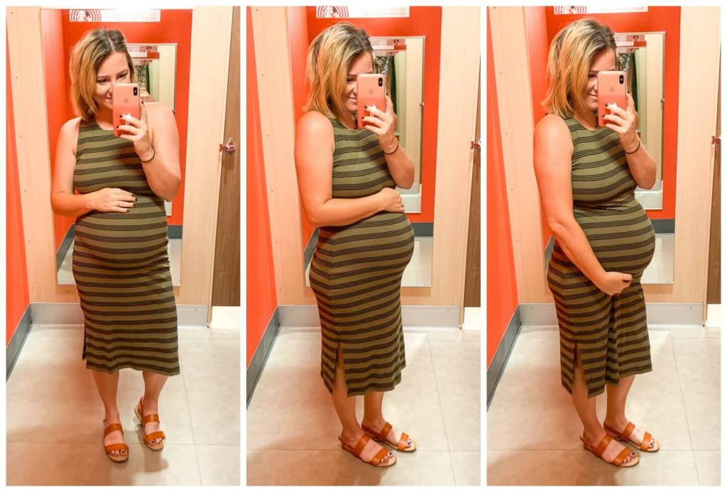 Target Try On: Summer Dresses / Women's Striped Sleeveless Round Neck Knit Tank Midi Dress - Wild Fable™ Olive