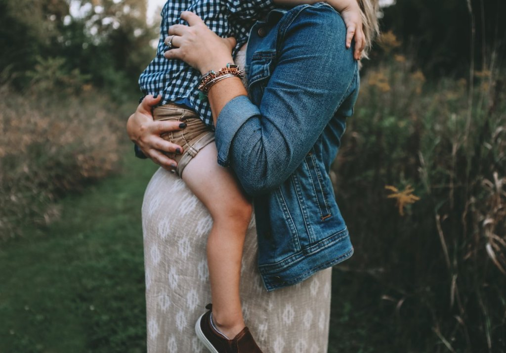 Fall Family Photos | Fall Maternity Photos | Mom and Son