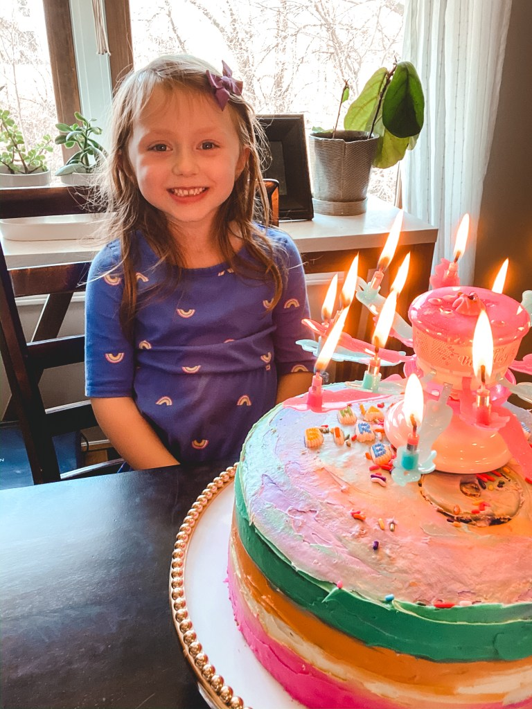 Blaire and birthday cake