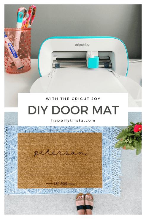 DIY DOOR MAT with Cricut Joy