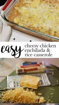 Easy Chessy Chicken Enchilada & Rice Casserole | Happily Trista Blog