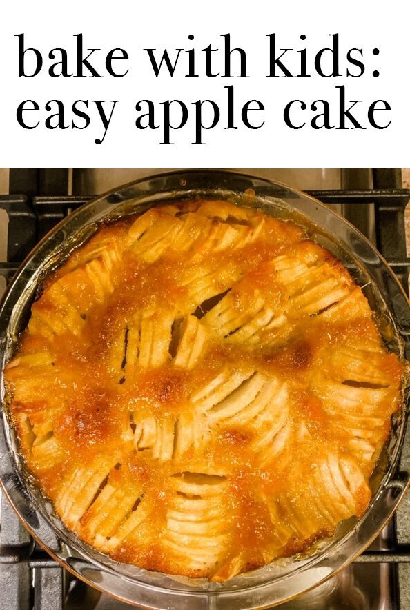 bake with kids: easy apple cake